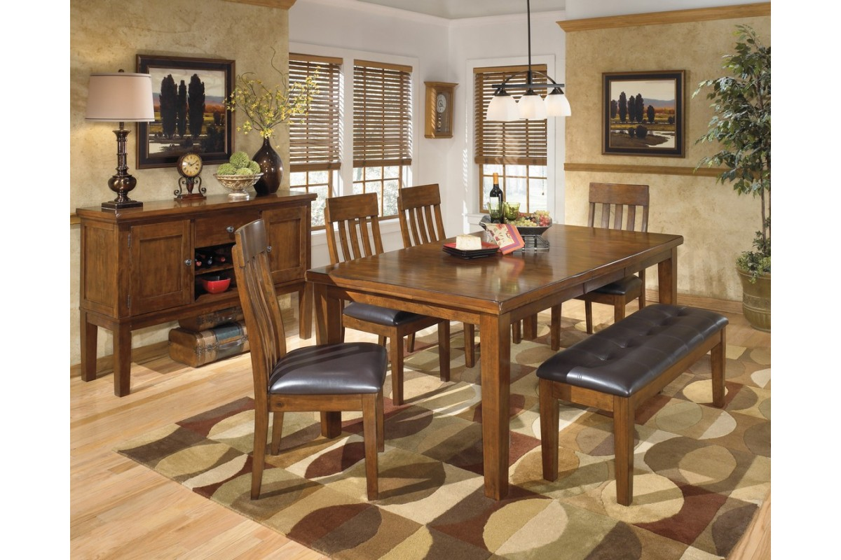 ashley d594 35 01 00 ralene 6 piece rectangular dining