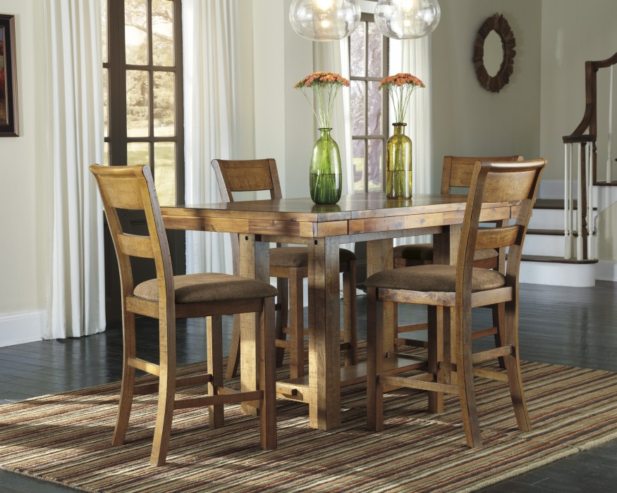 Ashley D653 32 124 Krinden 5 piece Rectangular Dining Room