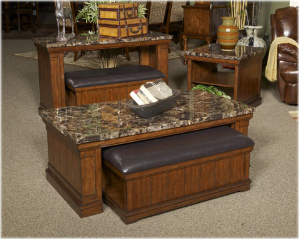 Ashley T838-1 Merihill Cocktail Table with Ottoman (2/CN)