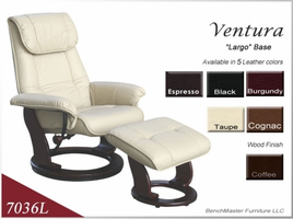 Benchmaster Euro Line Leather Swivel Recliners