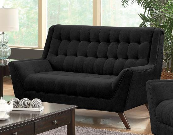 COASTER 503775 BLACK FABRIC LOVE-SEAT