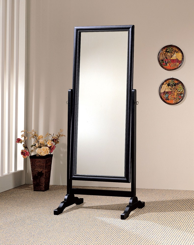 Coaster Furniture 900168 Cheval Mirror Rubbed Black