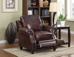 Leather Recliner Chairs, Glider Chairs and Leather Recliner Sofa Sets