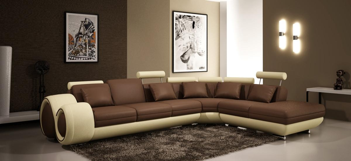 Modern Leather Sectional Sofa. Curved Leather Sectional Sofa ... Couch L Form