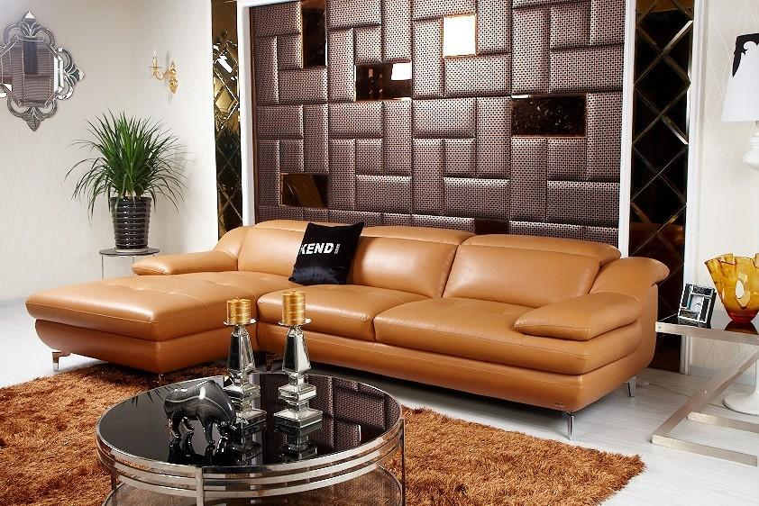 Divani Casa K8392 - Modern Eco-Leather Sectional Sofa