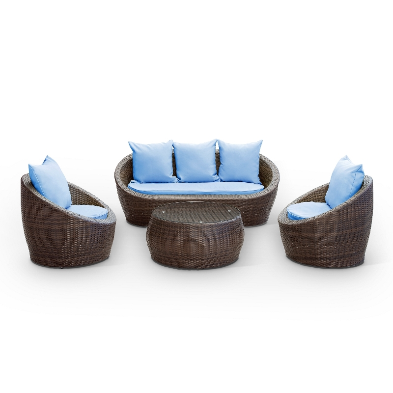 Modway Furniture Avo Outdoor Wicker Patio 4 Piece Sofa Set