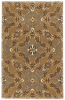 Etienne - Basil Traditional Classics Green/Gold Rug