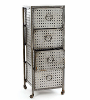 Four Drawer Industrial Bin Unit
