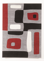 Geo - Red Contemporary Medium Rug