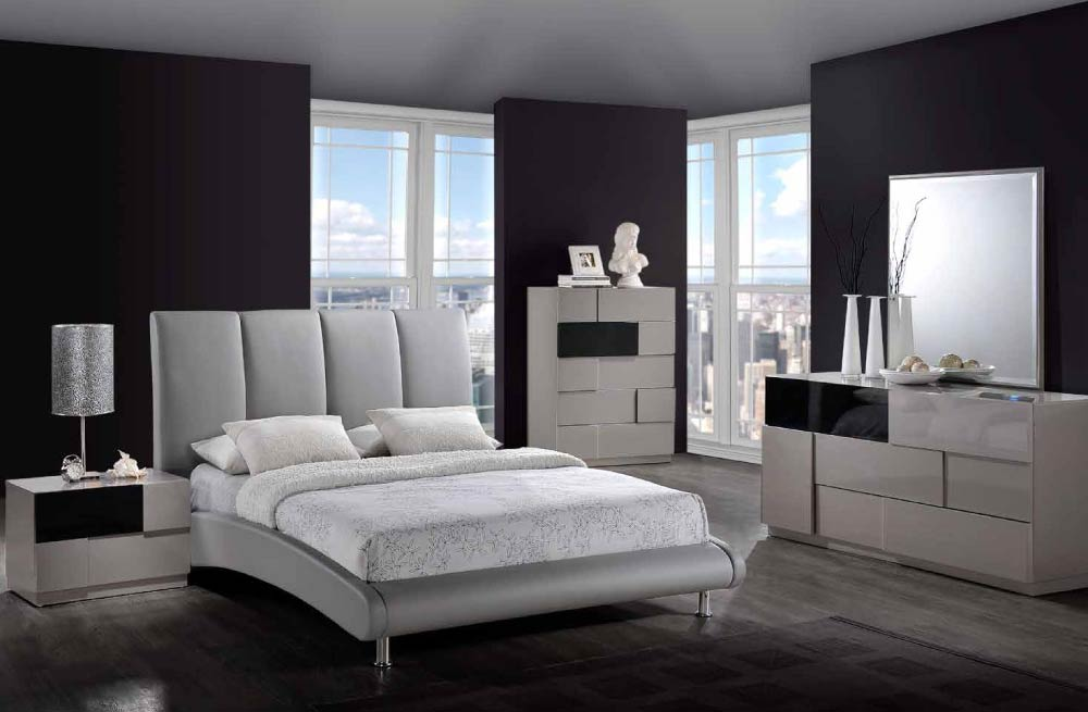 sets global furniture 8272 gr bianca grey bianca bedroom set