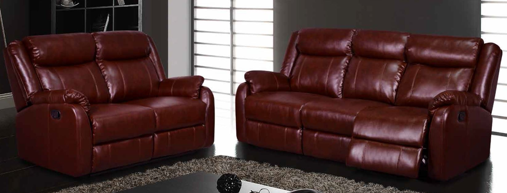 Burgundy Sofa And Loveseat Modern Leather