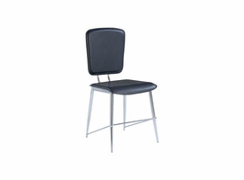 Global Furniture Chrome / Black Dining Chair