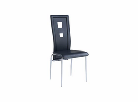 Global Furniture D1057DC Black / Chrome Dining Stool