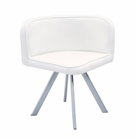 Global Furniture D536DC-WH White Dining Chair