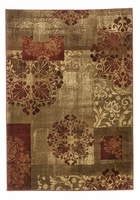 Hartwell - Canyon Traditional Burgundy/Tan Rug