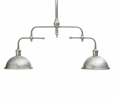 Industrial Billiard Fixture with Ribbed Shade