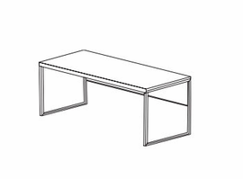 Jesper Office 9806 Narrow Desk with Modesty Pane
