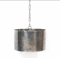 Large Antique Steel Drum Fixture