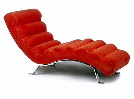 Lind Chaises in Leather & Microfiber
