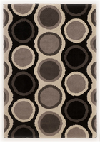 Links - Grey Contemporary Black/Grey/Ivory Rug