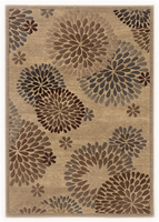 Liora - Multi Contemporary Brown/Blue Rug