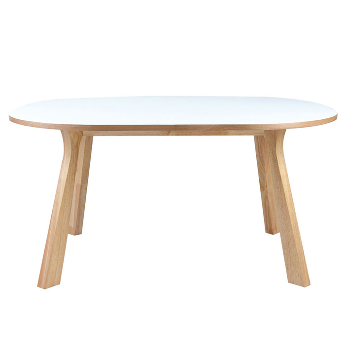 Modloft 1459067 Marcus White Lacquer And Natural Oak Dining Table