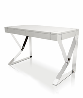 Modloft Houston White Lacquer Desk