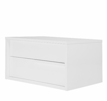 Modloft Jane White Lacquer Nightstand
