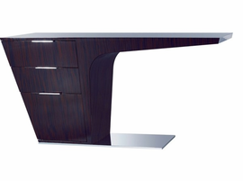 Modloft Mercer Ebony Lacquer Desk