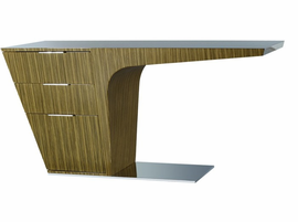 Modloft Mercer Zebrano Lacquer Desk