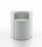 Modloft Mulberry White Lacquer Nightstand
