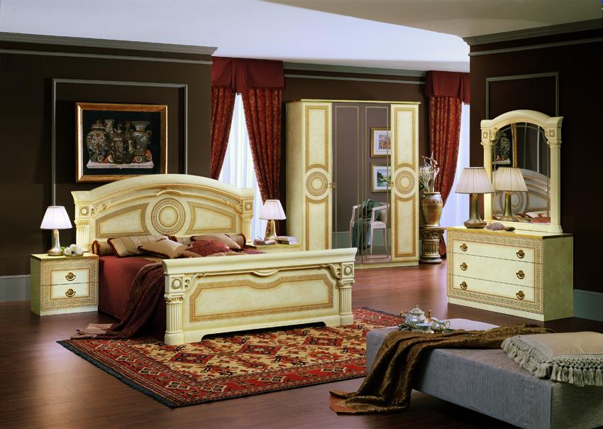 modrest aida traditional california king bed set made in