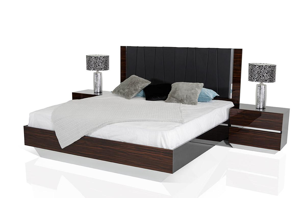 modrest luxor modern ebony lacquer italian bedroom set