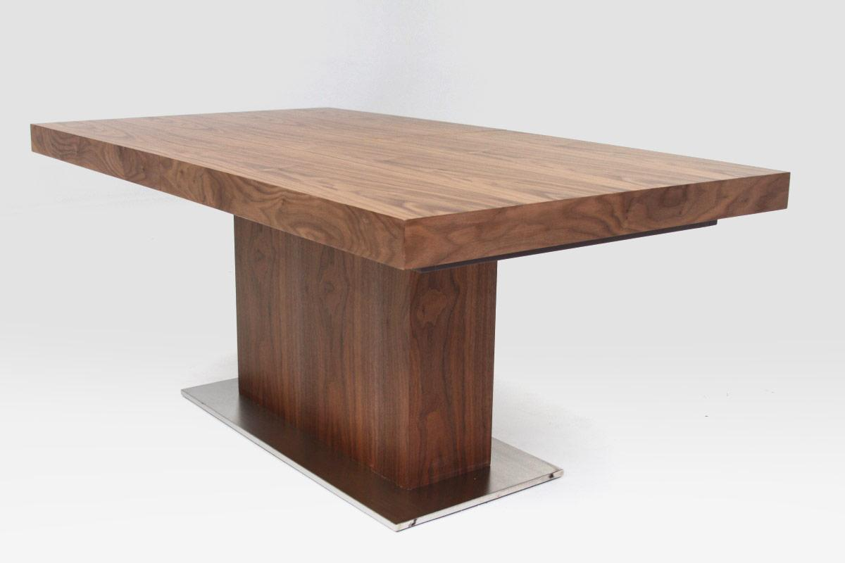 Small Modern Dining Tables Modern Walnut Dining Table With Bench