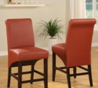 Modus Mfi Sleigh Back Sienna Counter Stool Set Of 2
