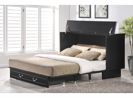 Murphy Bed Fu Chest Creden ZzZ Cottage Cabinet Bed - Black