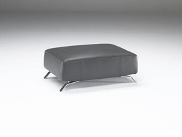 Natuzzi Editions B795-100 Leather Ottoman