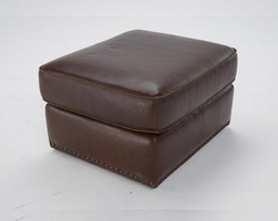 Natuzzi Editions B858-010 Leather Ottoman