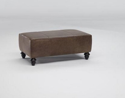 Natuzzi Editions B872-100 Leather Ottoman