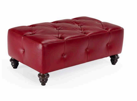 Natuzzi Editions B873-100 Leather Ottoman