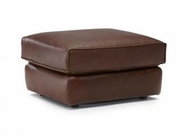 Natuzzi Editions B909-010 Leather Ottoman