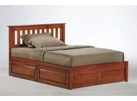 NE Kids Night & Day Spice  Platform Bed Collection (Solid Wood)