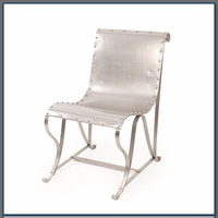 Nickel Sling Chair with Rivets