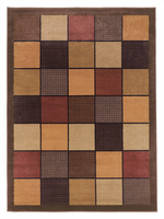 Patchwork - Brown Contemporary Area Rug