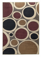 Popstar - Plum Contemporary Multi Rug