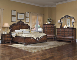 Pulaski Furniture 962 Wellington Manor 3Pcs Queen Platform Bedroom Set
