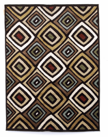 Rhombus - Multi Contemporary Medium Rug