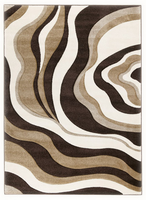 Rivoletto - Brown/Ivory Contemporary Medium Rug