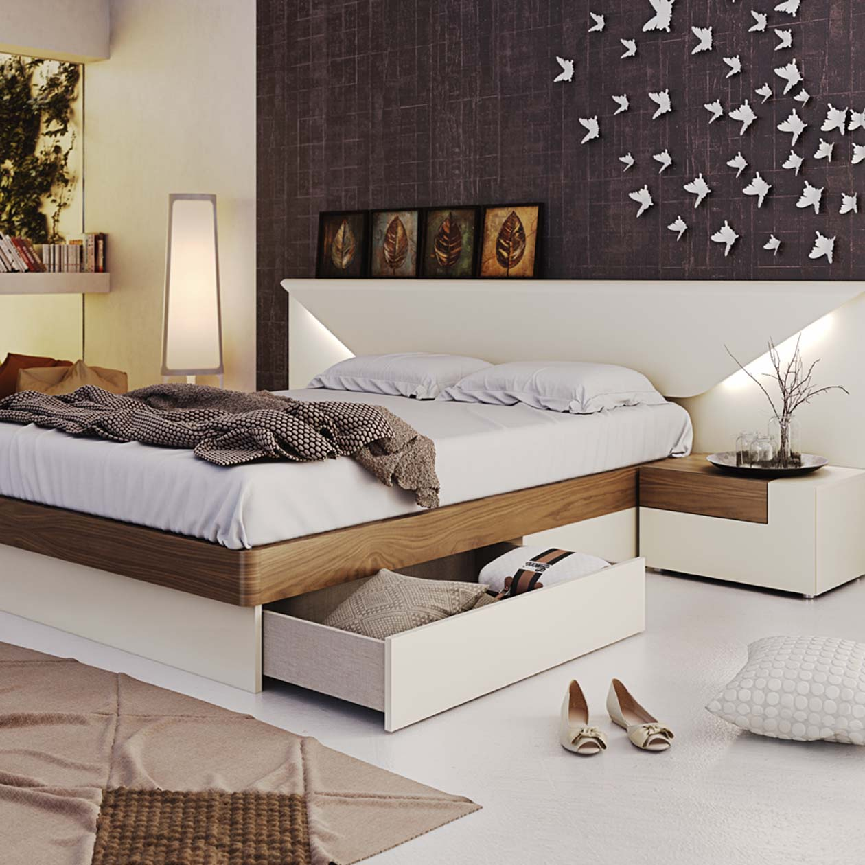 Storage Beds With Drawers Or Hydraulic Lift Storage