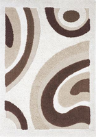 Structure - Ivory Brown Contemporary Area Rug